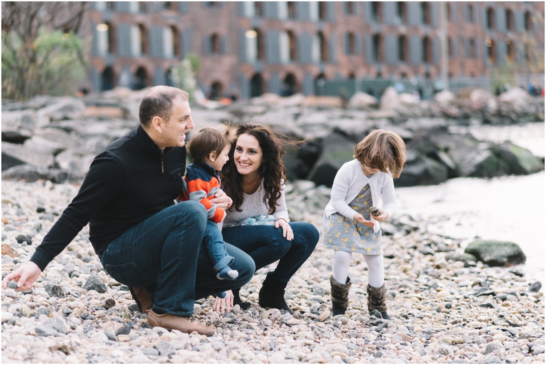 Brooklyn Bridge Park Family Lifestyle Session by Ardita Kola Photography